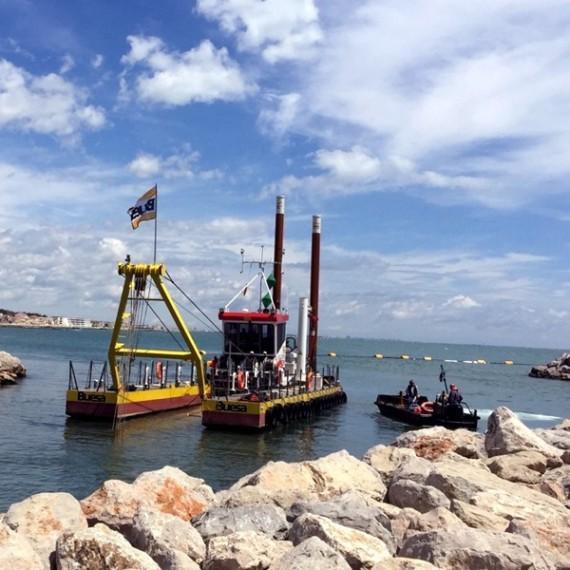 BUESA dragage passe d'entrée du port de palavas 2016