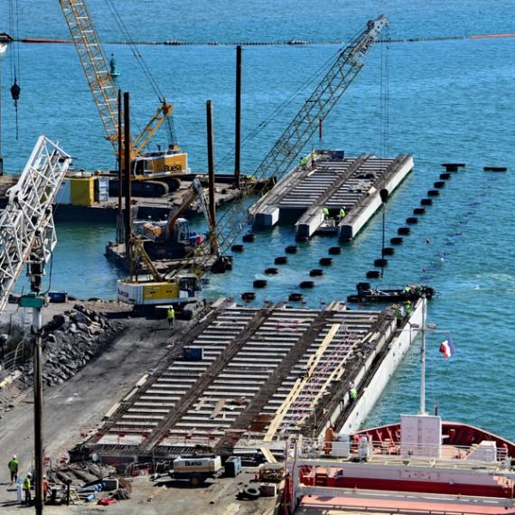 BUESA prolongation du quai J au port de sete 2011