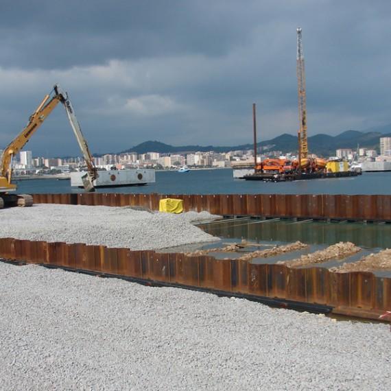 BUESA rempietement du quai cci au port de commerce d'ajaccio 2010