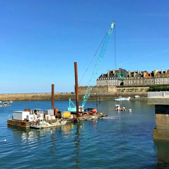 CHARIER aménagement pour les pêcheurs de l'avant-port de saint-malo 2016