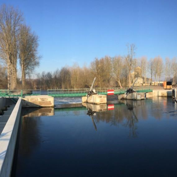 CHARIER réhabilitation du barrage d'hangest-sur-somme 2014-2015