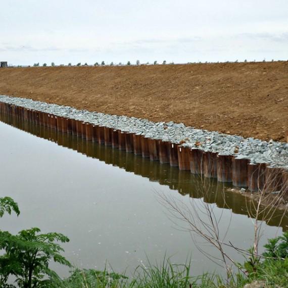 CHARIER renforcement des digues de protection contre la mer - la-faute-sur-mer 2014