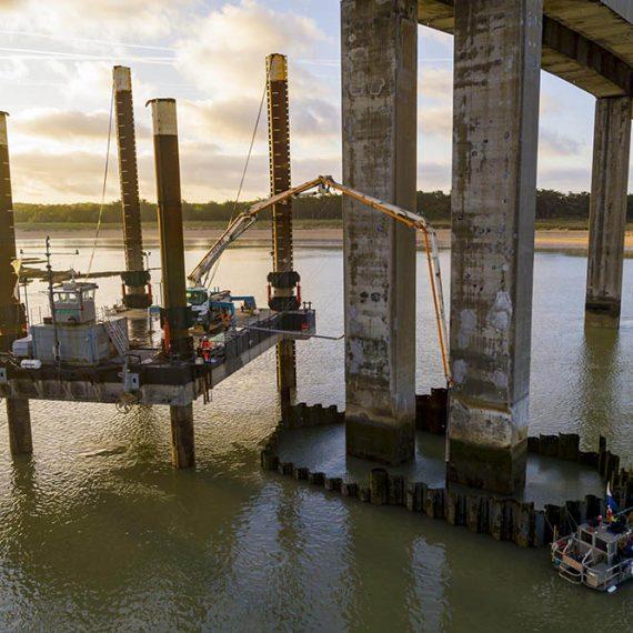 Charier GC - Confortement des piles du pont de Noirmoutier - 2019-2020