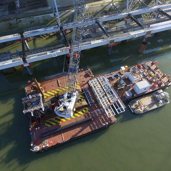 ETMF - Réalisation du front d'accostage et du poste de chargement MRM -Sénalia- pour le Grand Port Maritime de Rouen