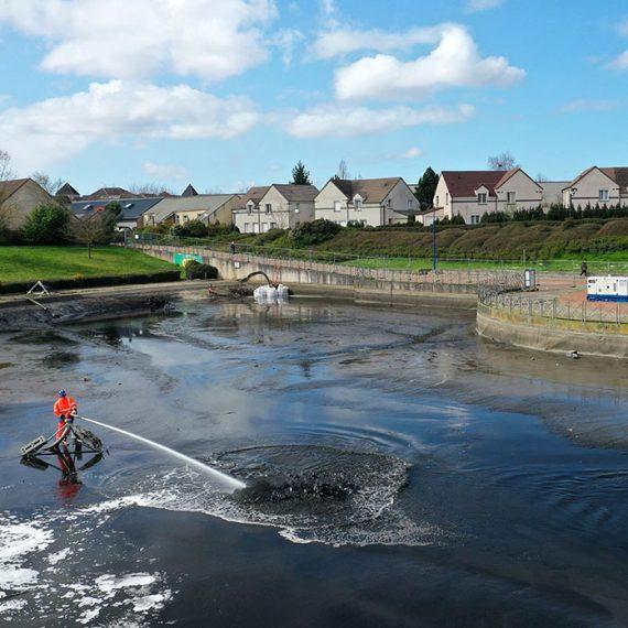 EXTRACT – Curage du bassin de la Louvière à Courdimanche par délitage pompage – Communauté d'Agglomération de Cergy Ponto