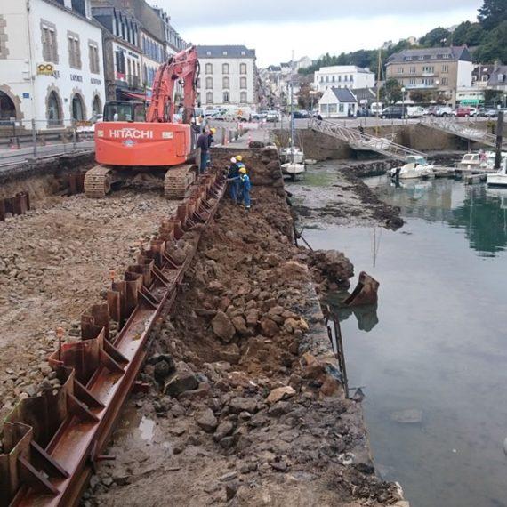 MARC SA - Reconstruction du quai Jaurès à AUDIERNE