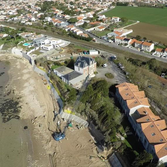 ETCHAR CONSTRUCTION confortement du mur rempart - angoulins-sur-mer 2014-2015