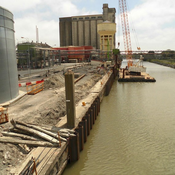 Spie batignolles nord - Réparation du quai de chargement - Usine Lesieur de Dunkerque 2013