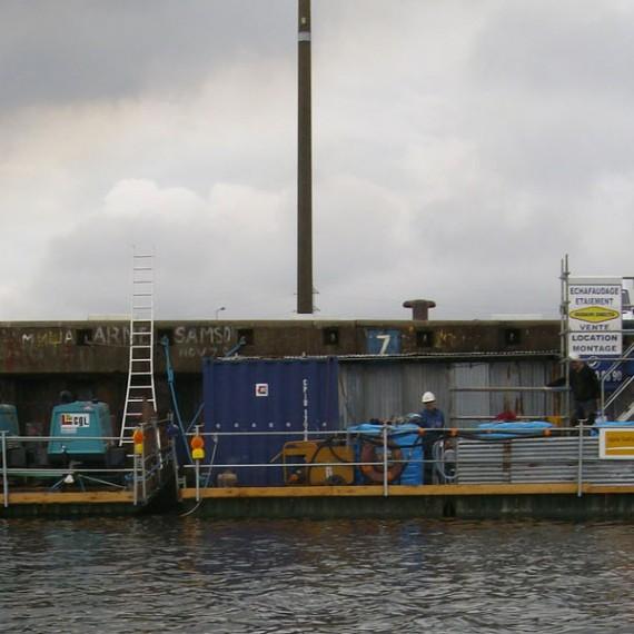 Spie batignolles nord - Réparation du Quai de l'Escaut - Port de Dunkerque 2009