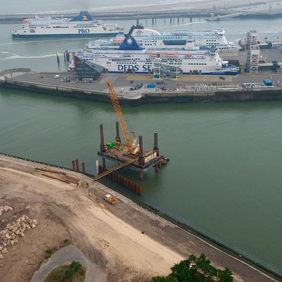 Spie batignolles nord - Port de Calais - Réfection du perré RISBAN 2014