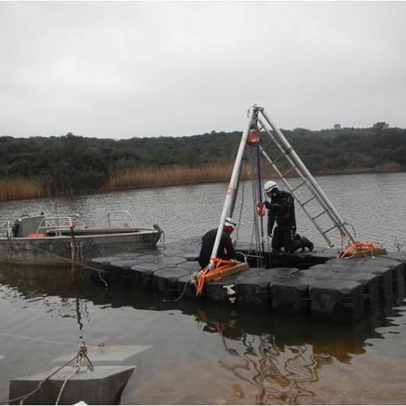 HYDROKARST - Barrage de Ségoussac, France - Installation d'un émissaire de rejet et d'une prise d'eau brute - VEOLIA EAU - 2015