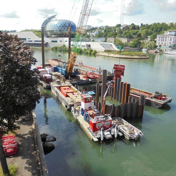 Boulogne Billancourt (92) - Création d'estacade, de quai et de soutènements dans le cadre des travaux de la ligne 15
