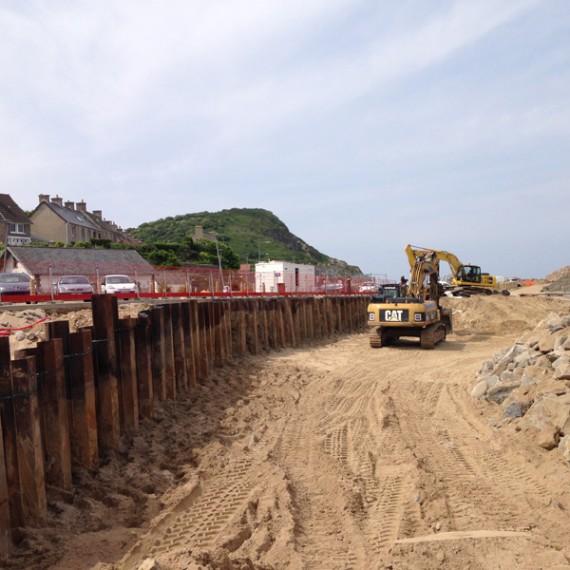 TPC aménagement haut de plage de dielette 2016