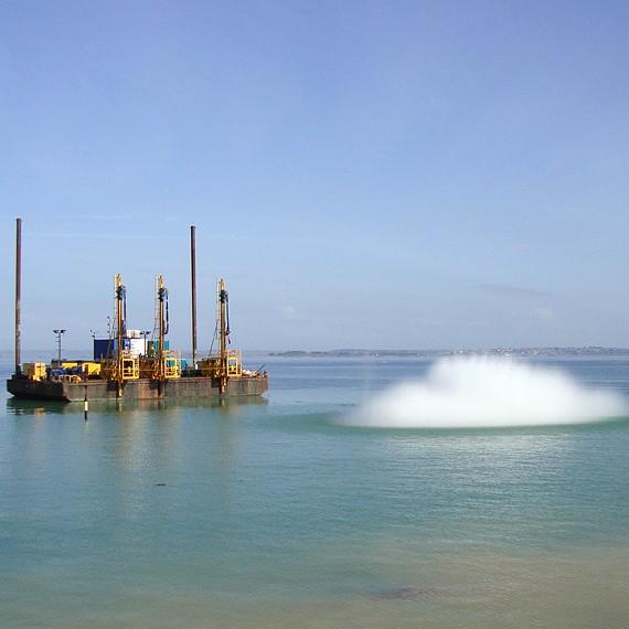 ATLANTIQUE DRAGAGE - Extension du port de Roscof - BLOSCON - 2010/2012