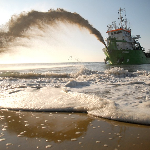 SDI - Réensablement par dragage et refoulement hydraulique à Pyla-sur-Mer - 2012