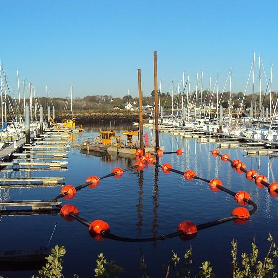 MERCERON - Dragage de la marina de Port La Forêt à La Forêt Fouesnant - 2012/2013