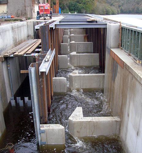 CHARIER - Passe à poissons barrage de Kerousse - 2009