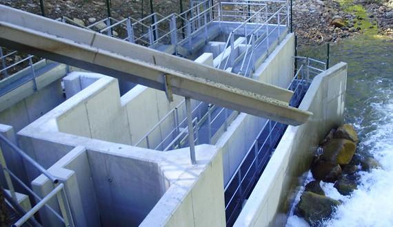 CHARIER - Passe à poissons - Barrage de Camps - 2011