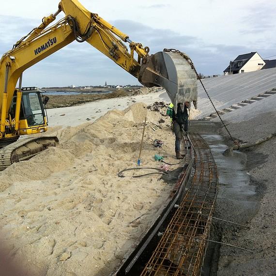 CHARIER - Torres et Vilault - Réfection du perré de haut de plage - Gâvres - 2012