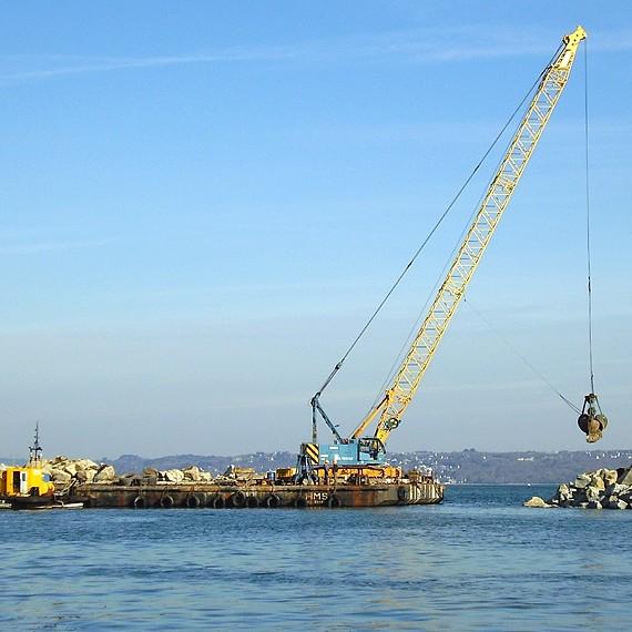 MARC SA - Travaux sur la digue Sud du Port de BREST- 2011/2012