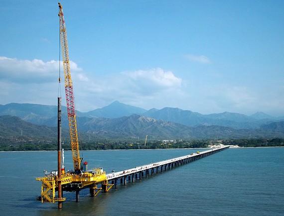 SAIPEM - Plateforme d'accostage - Puerto Nuevo, Cienaga - COLOMBIE - 2012