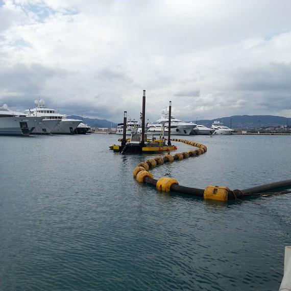 Eco Systèmes de Dragage - Dragage dans le cadre du réaménagement du plan d'eau de Port Canto à Cannes - 2014