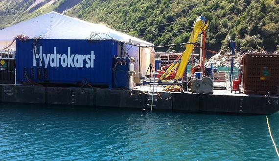 HYDROKARST - Plongée à saturation -100m de profondeur - Barrage EDF de Grand-Maison - 2012